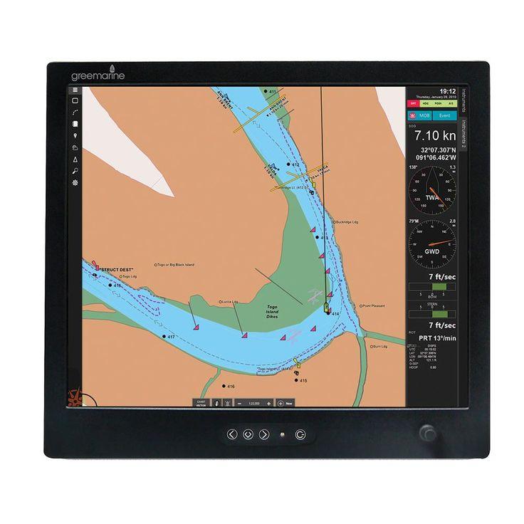 Green Marine PILOT-19 Commercial Marine Monitor Sunlight Readable ...