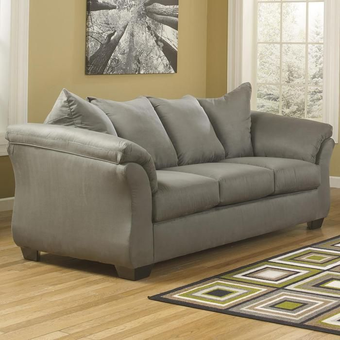 Darcy Fabric Sofa in Cobblestone | Nebraska Furniture Mart