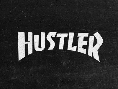 Hustler logo by Typemate