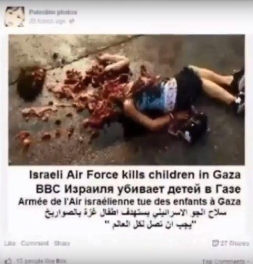 """PALLYWOOD USA IMAGENES FICTICIAS DE UNA PELICULA PARA DESLEGITIMAR A ISRAEL. Penoso, la mayoría de las noticias de Gaza provienen de Hamas y de organizaciones """"neutrales"""" de la ONU (qu…"""