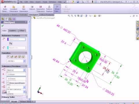 Dimxpert 3D Geometric Tolerancing in SolidWorks - YouTube