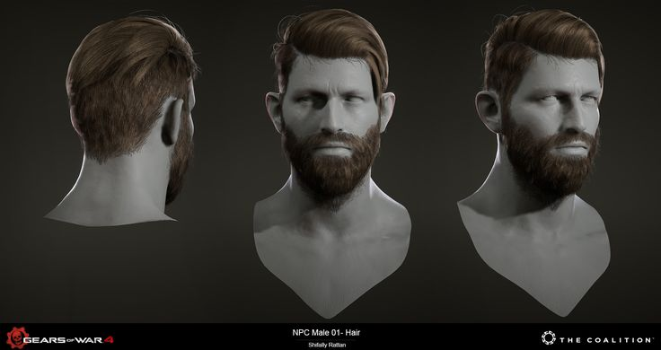 ArtStation - Gears of War 4 Hair, Shifally Rattan