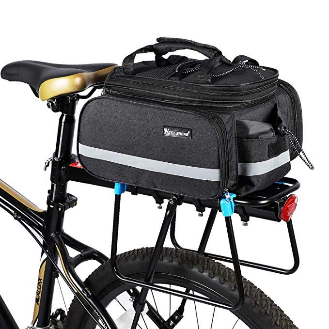 Bicycle Rear Pannier Bag Waterproof Extendable 10 25l Large