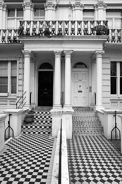 Notting Hill, London.....This area is my idea of really living. I used to work there and walked past these houses every day.....Oh, how the other half live?!! x