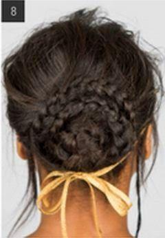 Peinado con 3 trenzas recogido fino ~ Belleza y Peinados