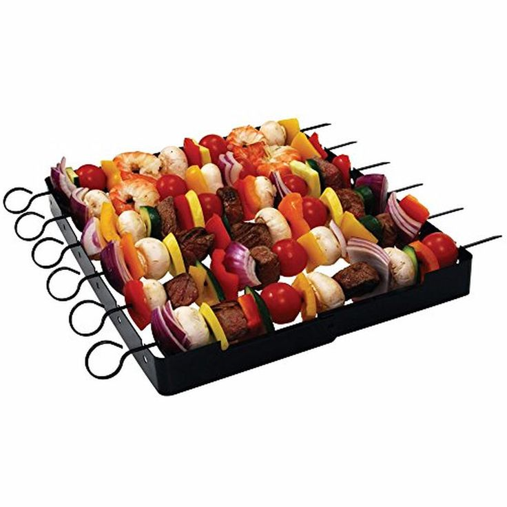 Shish Kabob Rack for Grills, BBQs and Ovens - NON Stick