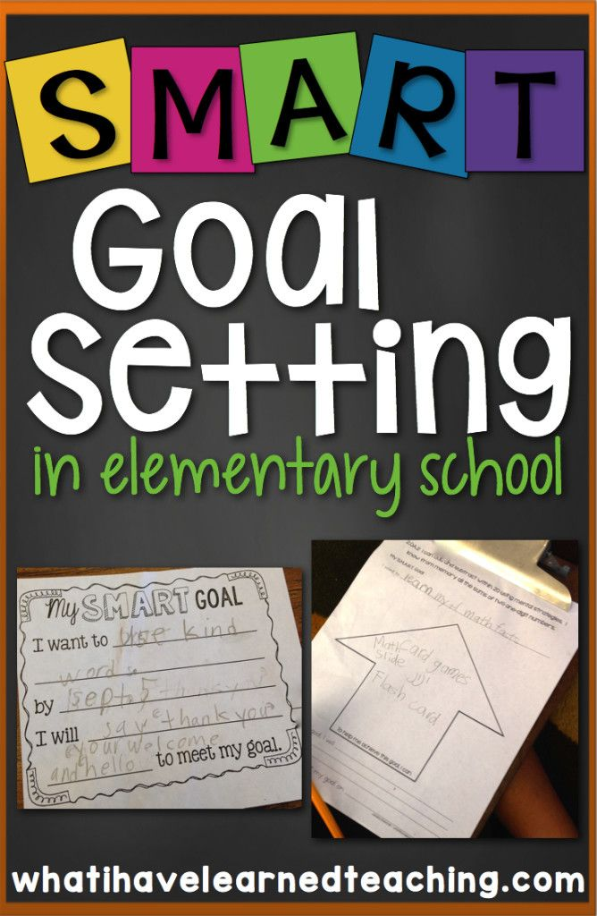 Help students learn to set SMART goals, create action plans, and celebrate achievements. Students take control of their learning in small manageable ways by setting meaningful goals that they can accomplish with a little help from their teacher.