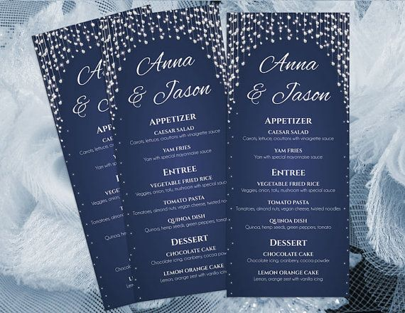 The  Best Wedding Menu Template Ideas On   Wedding