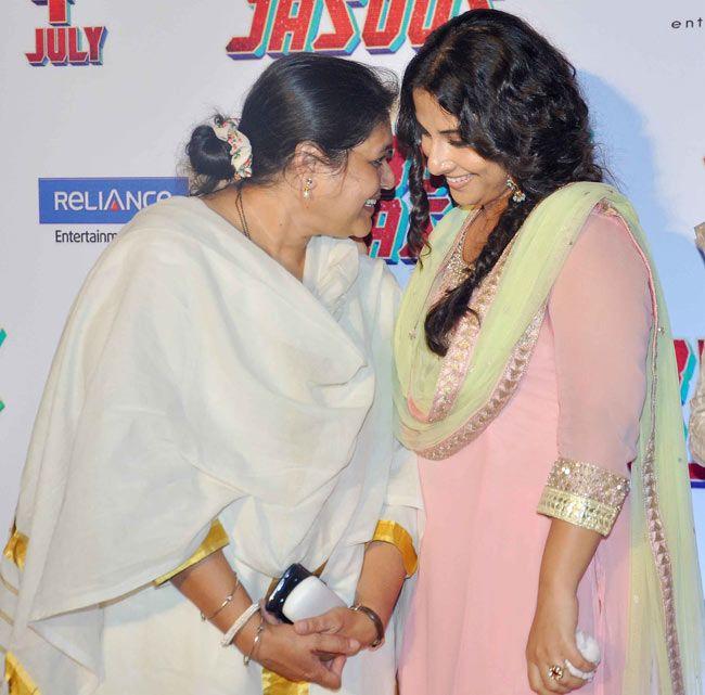 Supriya Pathak and Vidya Balan in conversation at the trailer launch of 'Bobby Jasoos'.