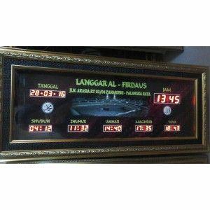 Jam digital masjid jual jadwal sholat digital otomatis murah Palangkaraya