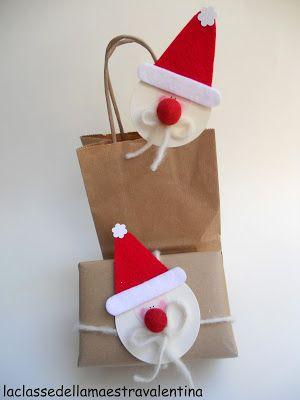 papa noel para bolsa de regalos