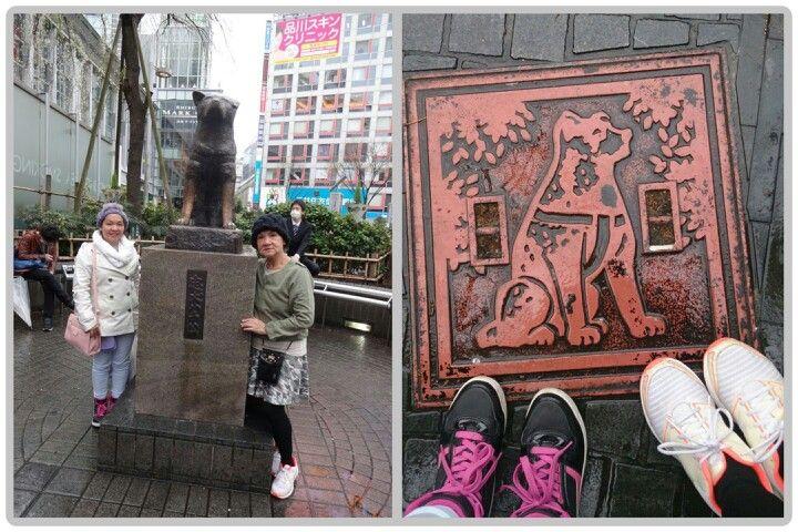 March 29th 2015 : Hachiko statue, Shibuya station, Tokyo, Japan