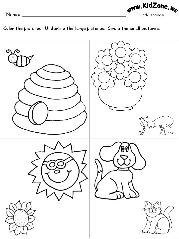 Worksheets Big And Little Worksheets math and worksheets on pinterest bigsmall worksheet