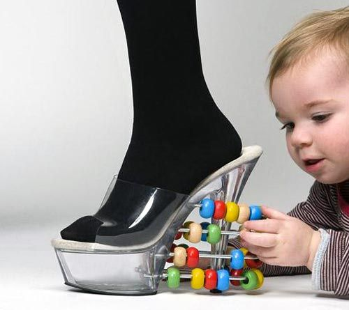 Thinkin I DEFINITELY NEED THIS!!!! Abacus Slide Toy High-Heel Shoes