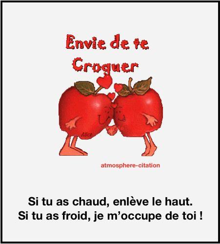 Envie de te croquer  Trouvez encore plus de citations et de dictons sur: http://www.atmosphere-citation.com/amour/envie-de-te-croquer.html?