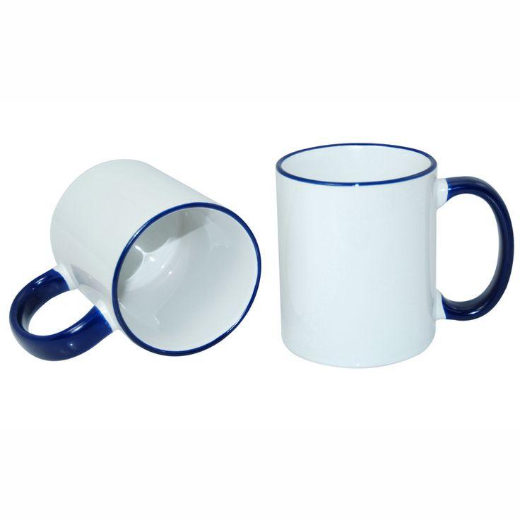 11oz Rim Handle Mug-Dark Blue