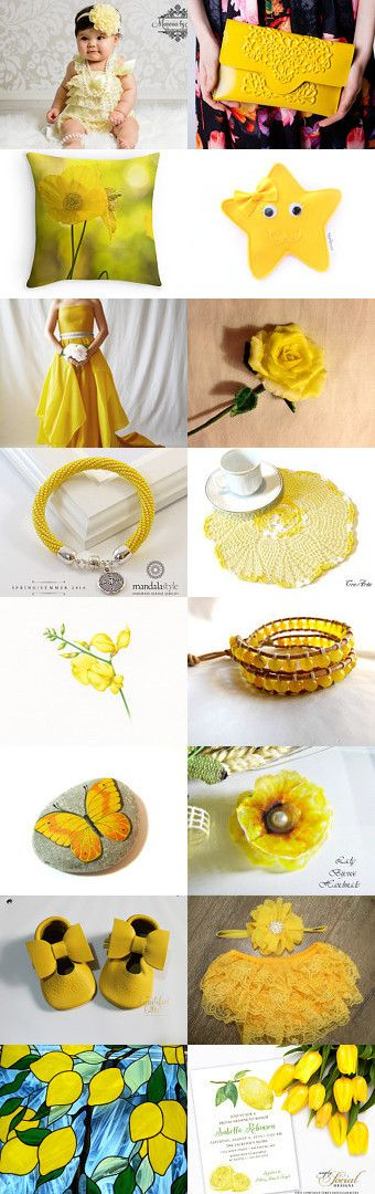★ ☆ ★ yellow ★ ☆ ★ by Miss Style on Etsy--Pinned+with+TreasuryPin.com