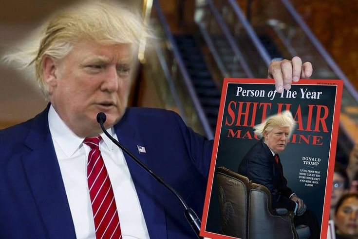 Trump Named Person of the Year by Shit Hair Magazine -- In an unpresidented turn of events, one of Donald Trump's tweets was proven to be correct today after Shit Hair Magazine declared him person of the year. In previous years, the much sought after accolade has been awarded to such shitty haired twatbaskets as John Travolta, Boris Johnson,... --  -- https://rochdaleherald.co.uk/2017/12/01/trump-named-person-of-the-year-by-shit-hair-magazine/