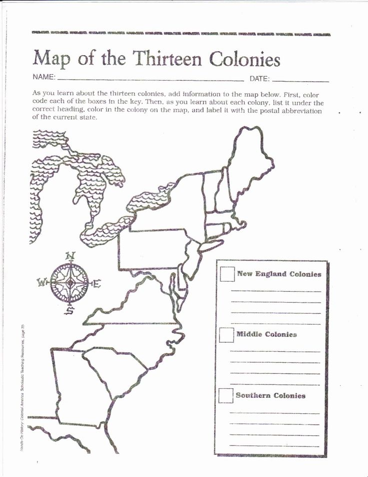 13 Colonies Worksheet Answers Lovely Blank Map Of the 13 ...
