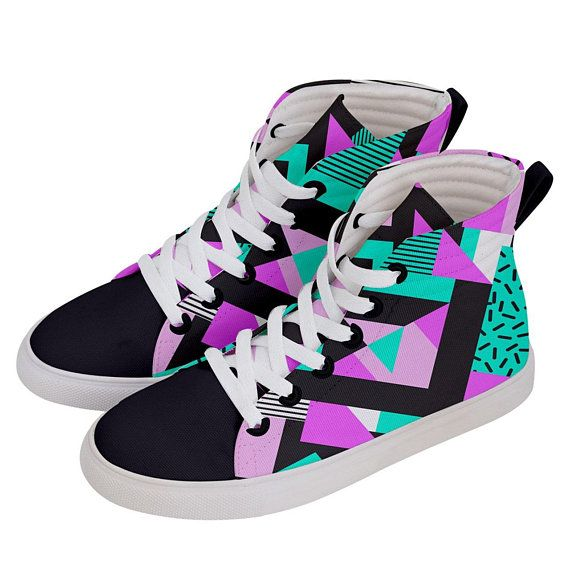 realeza protesta Detectable  80s Style Retro Sneakers, Colourful Sneakers, Colourful Sneakers, Hi Tops,  High Tops, Retro High Tops, Retro Hi Tops, Skate… | Retro sneakers, Sneakers,  80s fashion