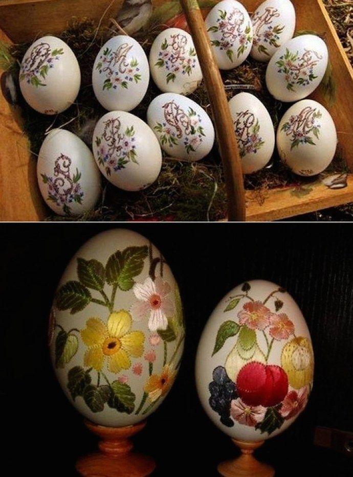 Идеи на Пасху: художница вышивкой превращает яйца в произведения искусства