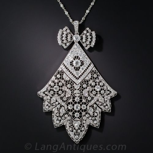 Antique French Belle Epoque Diamond Necklace
