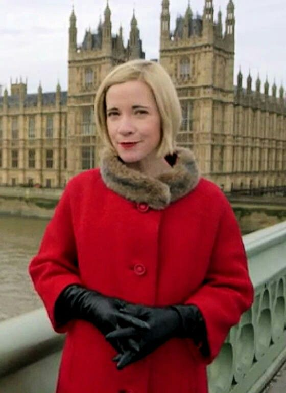 The Beautiful Lucy Worsley at the Houses of Parliament. I'd vote for her!