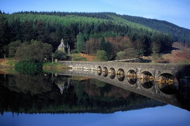 Beautiful Victorian dam in Powys