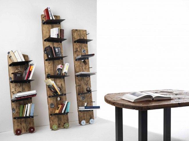 Sbobina|Design, Librerie Zazie, cm 140x35x30, cm 205x35x30 e cm 180x30x30