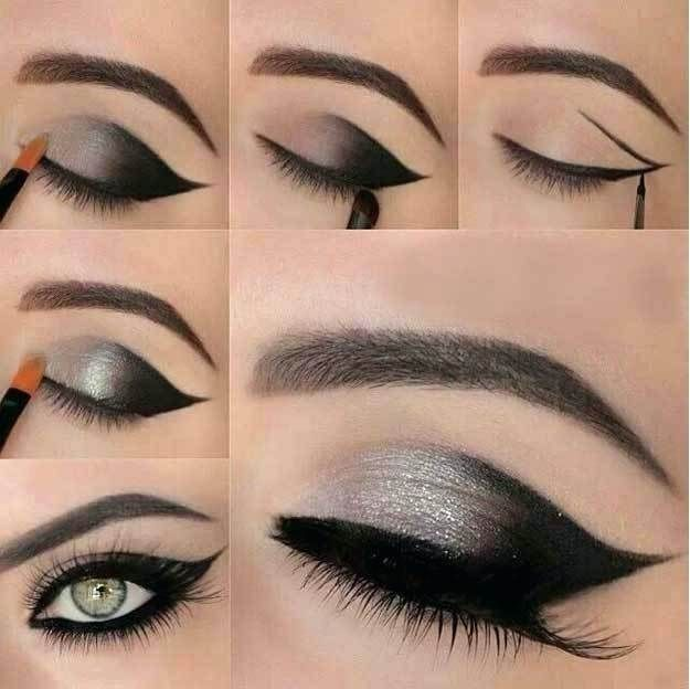 Bright wedding makeup for brown eyes and brown hair images