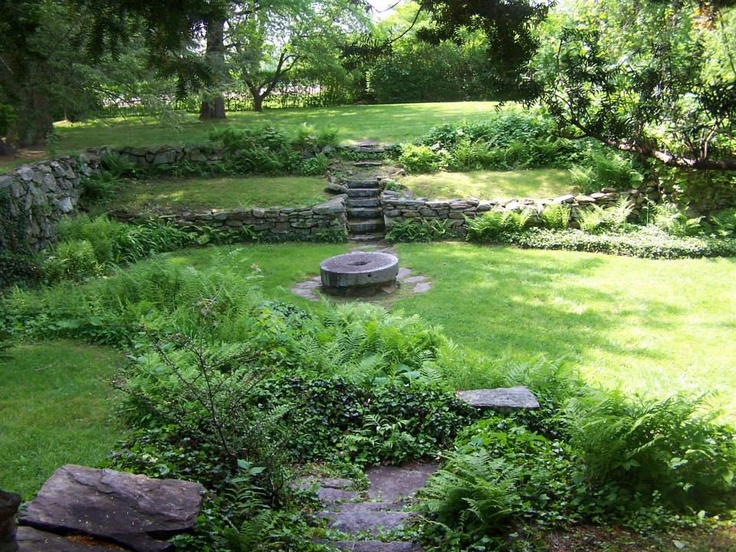 View of the sunken garden, join us Wednesday Night's for live music from local bands