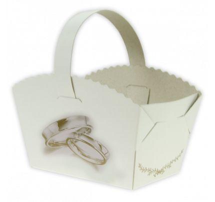 Svatební košíčky 'Bezděz' - prstýnky (10 ks/bal)