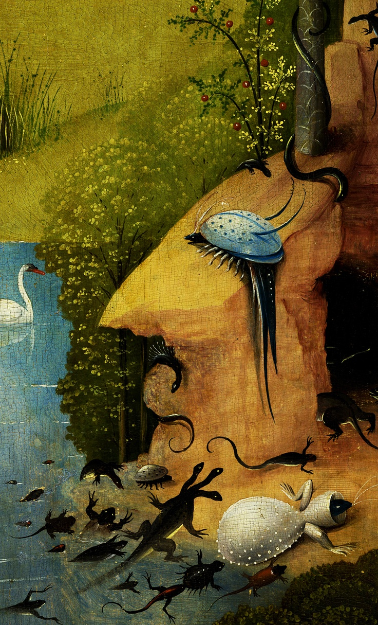 Hieronymus Bosch Garden Of Earthly Delights Left Panel