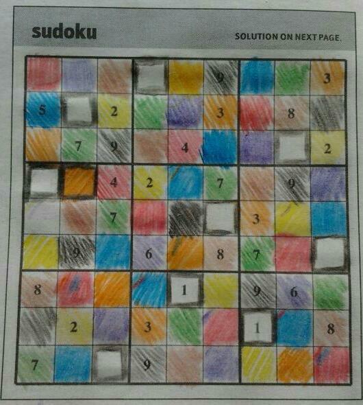 Colour sudoku