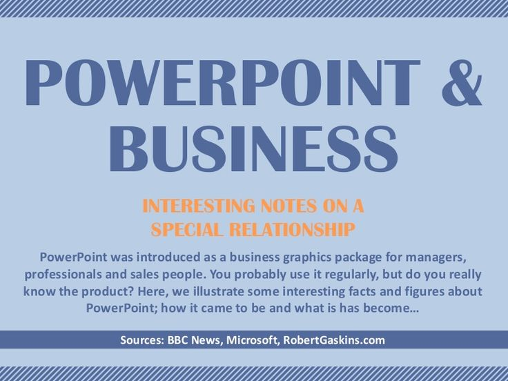 PowerPoint & Business: A Special Relationship #b2b #sales #pitch #ppt #powerpoint #business