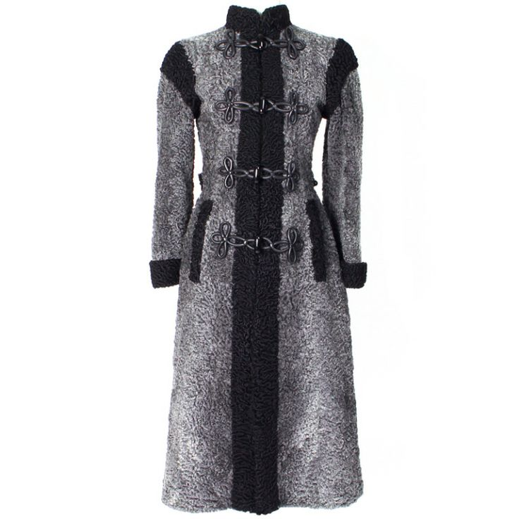 1980s Christian Dior Astrakhan Coat | From a collection of rare vintage coats and outerwear at http://www.1stdibs.com/fashion/clothing/coats-outerwear/