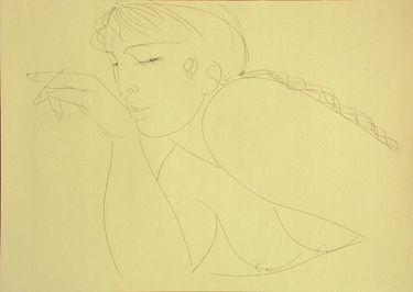 """Saatchi Art Artist Franco Fusari; Drawing, """"Chiara VI #S174"""" #art"""