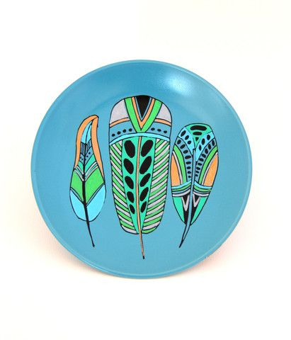 Cloud Nine Creative - 3 Feathers Plate 19cm