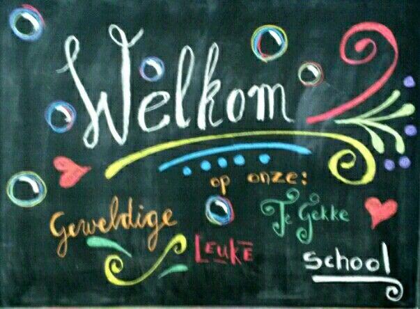 Welkom-school-bord-tekening