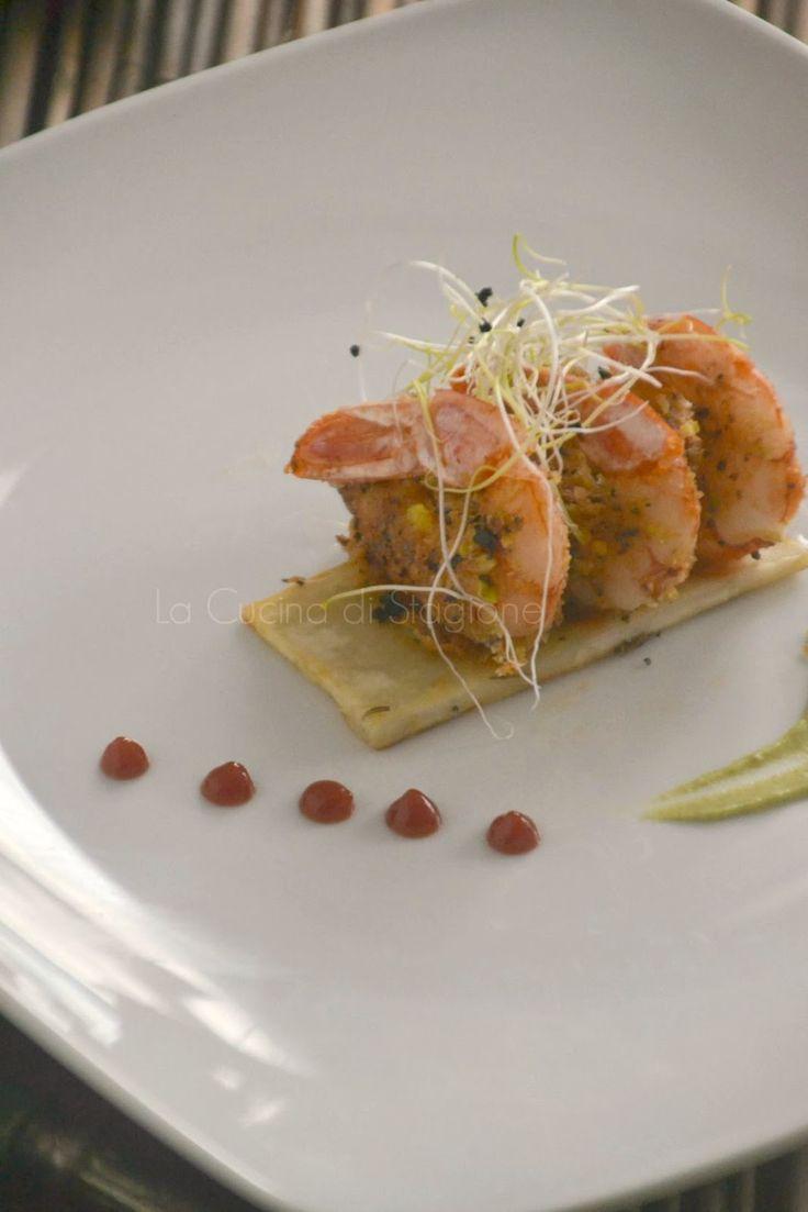 La Cucina di Stagione: Gamberi croccanti al Lemongrass su patate dolci al rosmarino