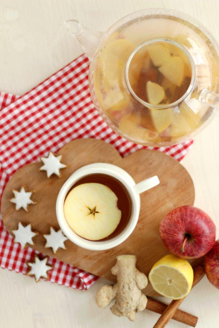 Rezept für einen leckeren Apfel-Zimt-Tee.   Rezept von provinzkindchen.com
