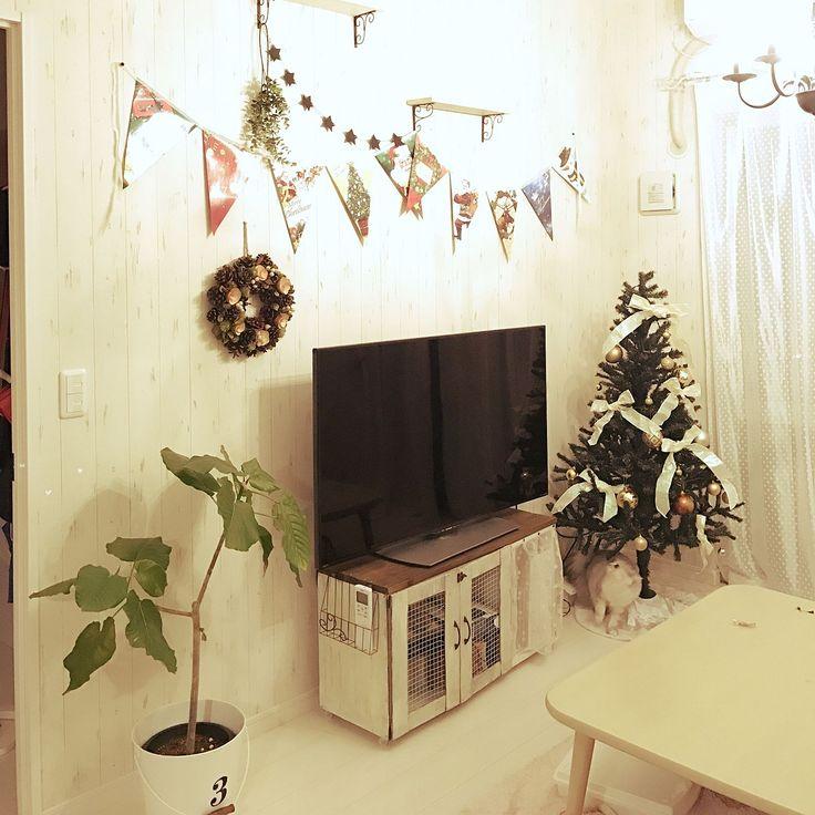 テレビ台DIY/カラーボックス…などのインテリア実例 - 2016-11-16 21:31 ... 女性で、3LDKのテレビ台DIY/カラーボックス/DIY/照明/