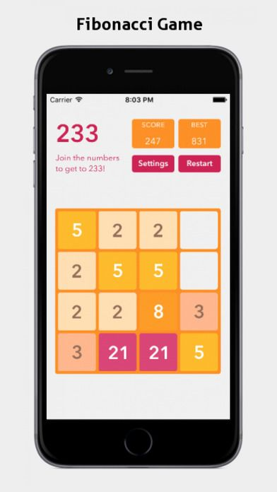 Master of 2048 and Fibonacci Games by iDroid App