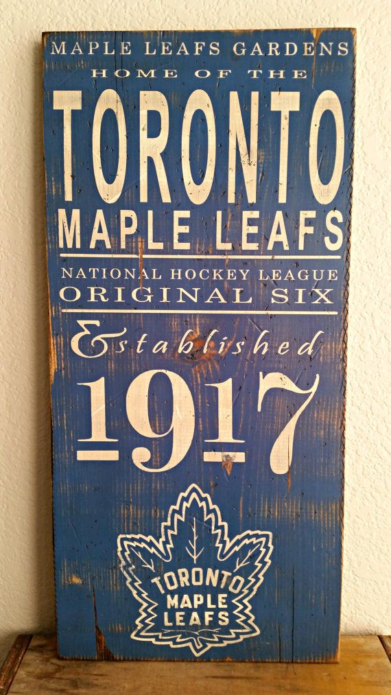 Hey, I found this really awesome Etsy listing at https://www.etsy.com/listing/116927739/toronto-maple-leafs-hockey-original-6