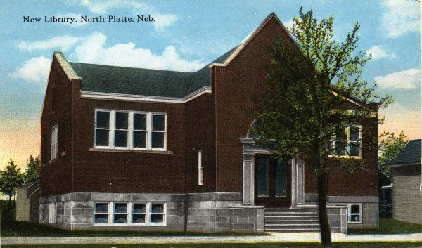 North Platte Public Library was built with 12,000 dollars, a grant from Andrew Carnegie on the understanding that the City of North Platte provided 1,200 dollars annually to operate the facility. It was opened April 1912.