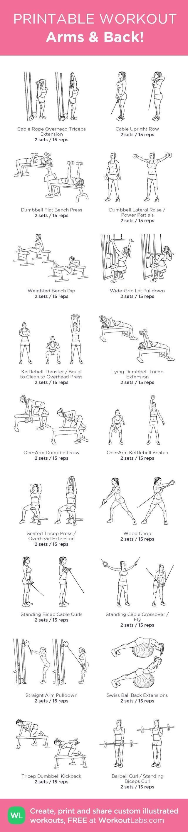 Arms and back workouts