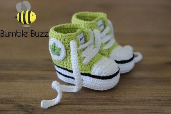Chucks  Converse Baby Boots / Booties / Shoes by BumbleBuzzBaybeez