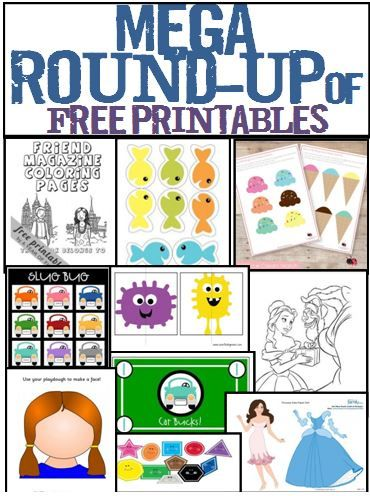 All Sorts of free PRINTABLES for MOMS & KIDS!  File folder games, coloring sheets, games, play dough pack, fake money, Lunch box notes, Travel Kit, etc.  LOVE THIS!  I'm printing all of them
