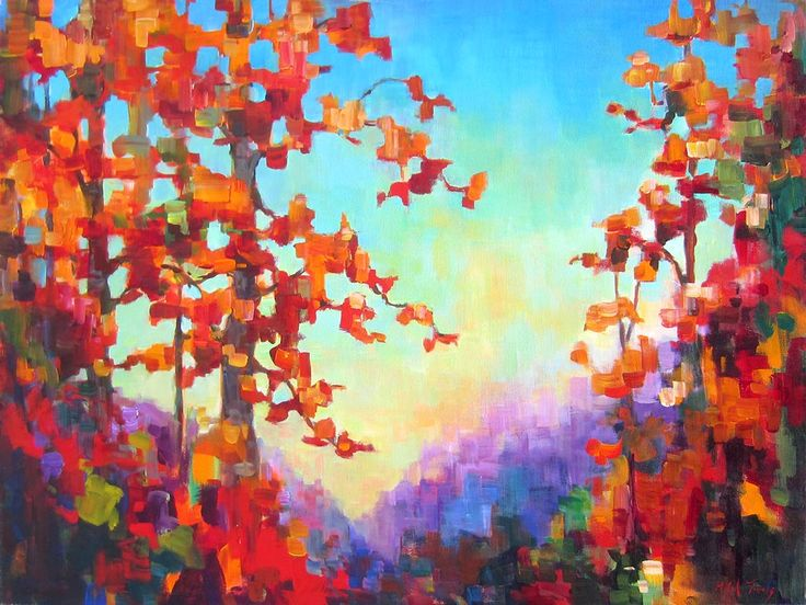 Fall Sunset par Micheal Foers, artiste présentement exposé aux Galeries Beauchamp. www.galeriebeauchamp.com