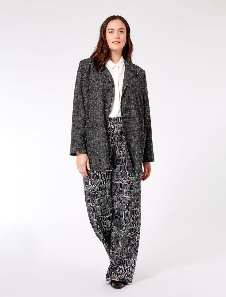 """Giacca in stuoia di lana e cotone, nero - """"FAMOSO"""" Marina Rinaldi"""